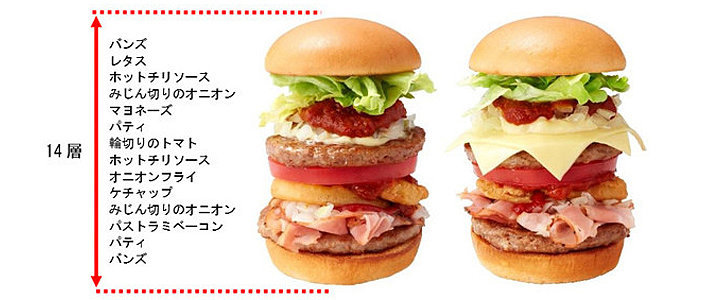 Japan's New Tokyo Tower Burger Is 14 Levels of Insanity