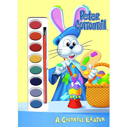 Peter Cottontail Colorful Easter Paint Book