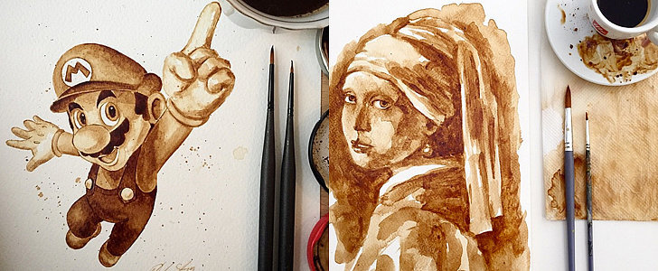 Can You Believe These Drawings Are Made Entirely Out of Coffee?