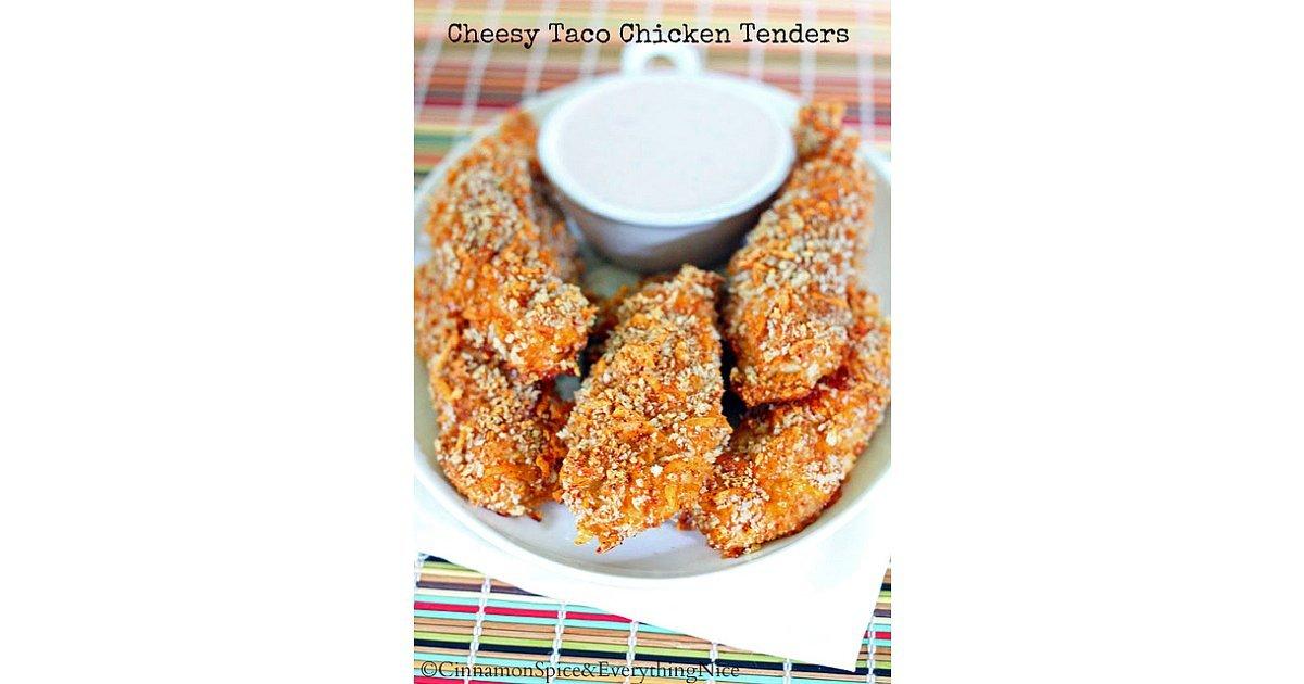 Cheesy Taco Chicken Tenders Recipe — Dishmaps