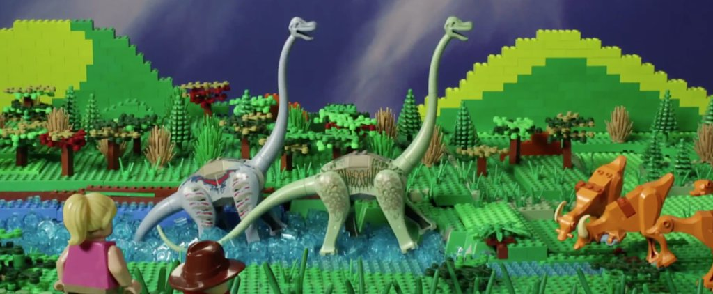 An Adorable Father-Daughter Duo Re-Created Jurassic Park With Legos
