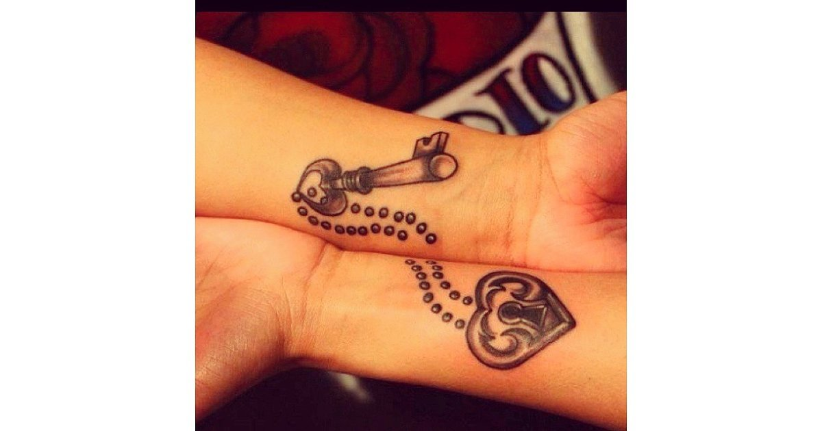 Lock and Key | 33 Matching Tattoos For Couples Who Are in It to ...