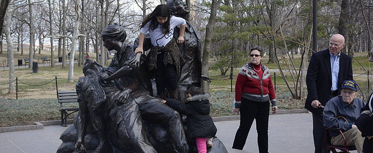 Photo of Children Climbing on Vietnam Women's Memorial Sparks Controversy