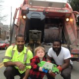 Adorable 2-Year-Old Loses It When He Meets the Garbagemen He Loves