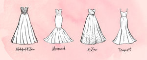 Finally — a Complete Guide to Wedding Dress Shapes