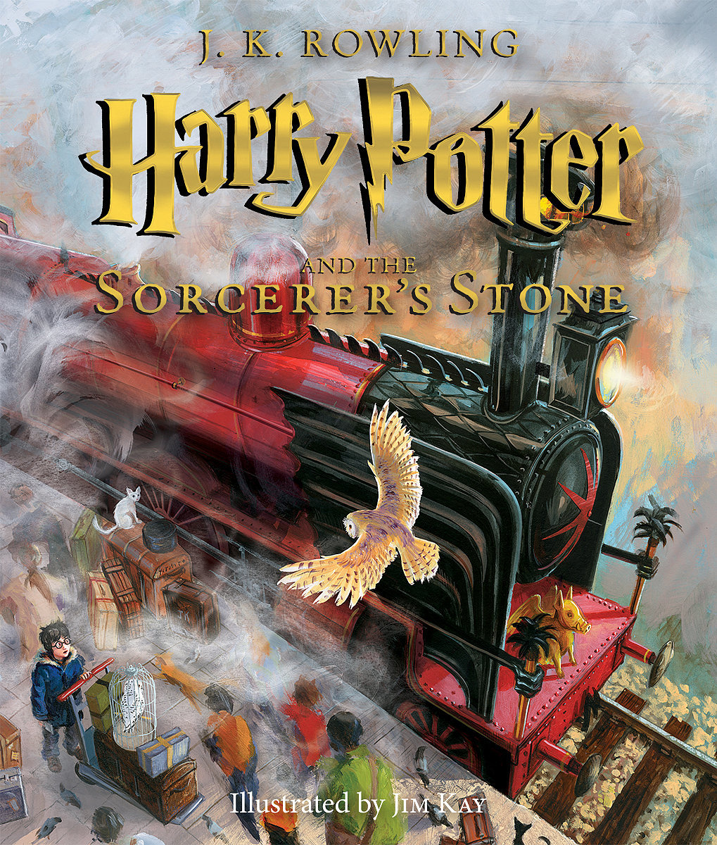 Illustrated Book Cover Version ~ Harry potter and the sorcerer s stone illustrated book