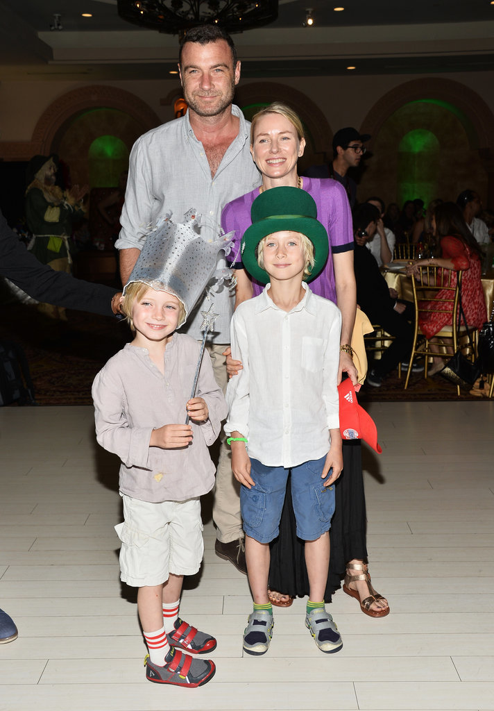 Naomi Watts and Liev Schreiber spent Saturday with their kids, Sasha and Kai, at Djanai's Angels Special Needs Family Prom in LA on Saturday.