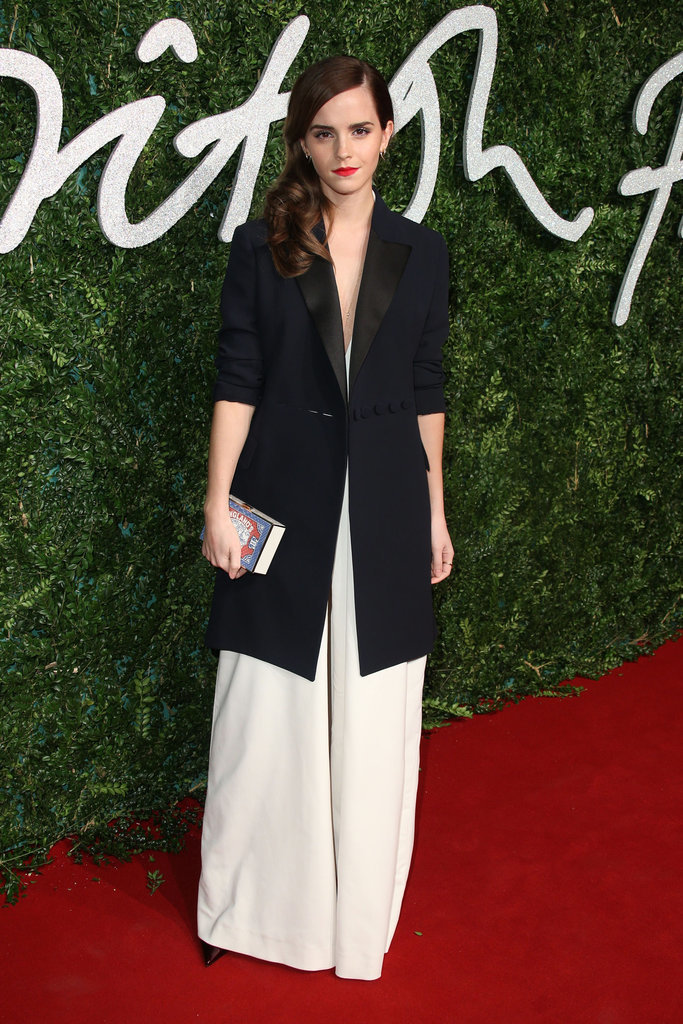 Emma Watson in Misha Nonoo and Dior at the British Fashion Awards