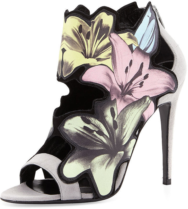 Pierre Hardy Lilly Floral-Cutout Bootie