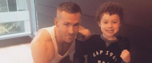 Ryan Reynolds Poses With a Cute Kid at the Gym, but All We See Is His Giant Bicep