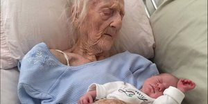 Image Of 101-Year-Old With Baby Sparks Unbelievable Response