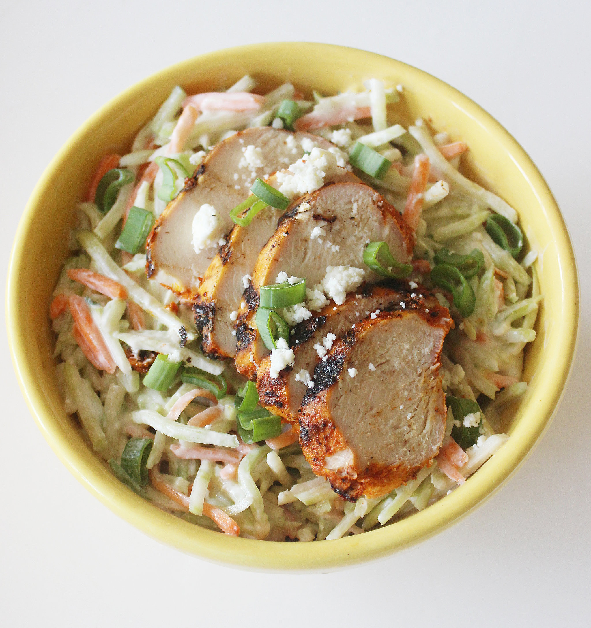 Lunch: Chicken Broccoli Slaw With Blue Cheese Yogurt Dressing | 56 ...