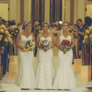 Identical Triplets Get Married at the Same Time