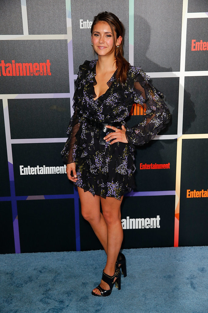 Nina was pretty in a printed Michael Kors dress and Salvatore Ferragamo black shoes at Entertainment Weekly's annual Comic-Con celebration in 2014.