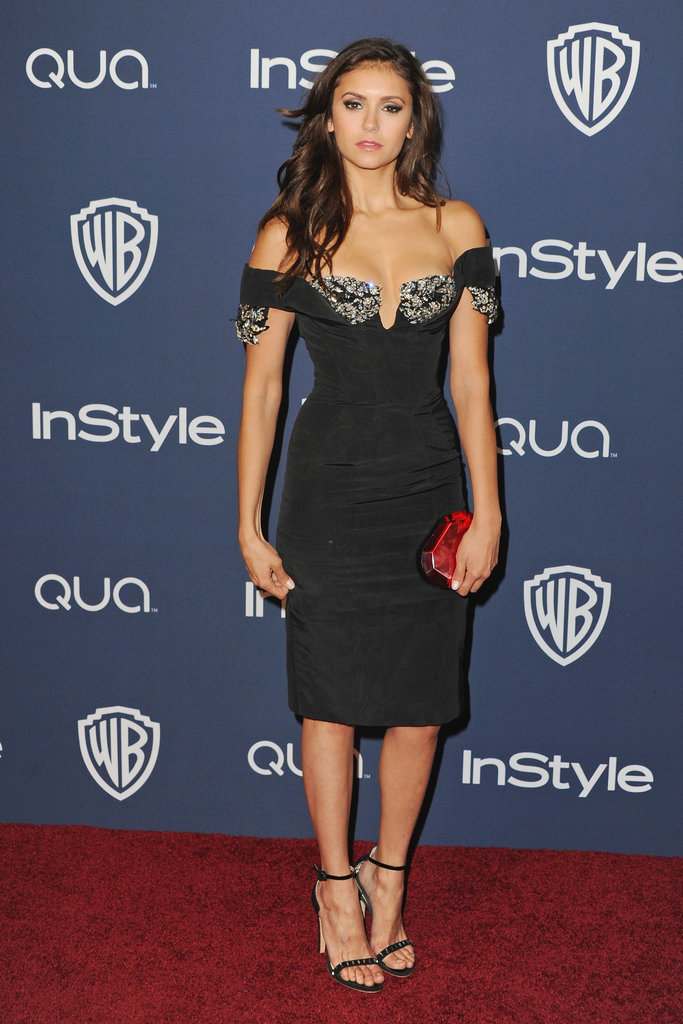 Nina went with a sexy Giorgio Armani LBD for the InStyle and Warner Bros.' 71st Annual Golden Globe Awards afterparty.