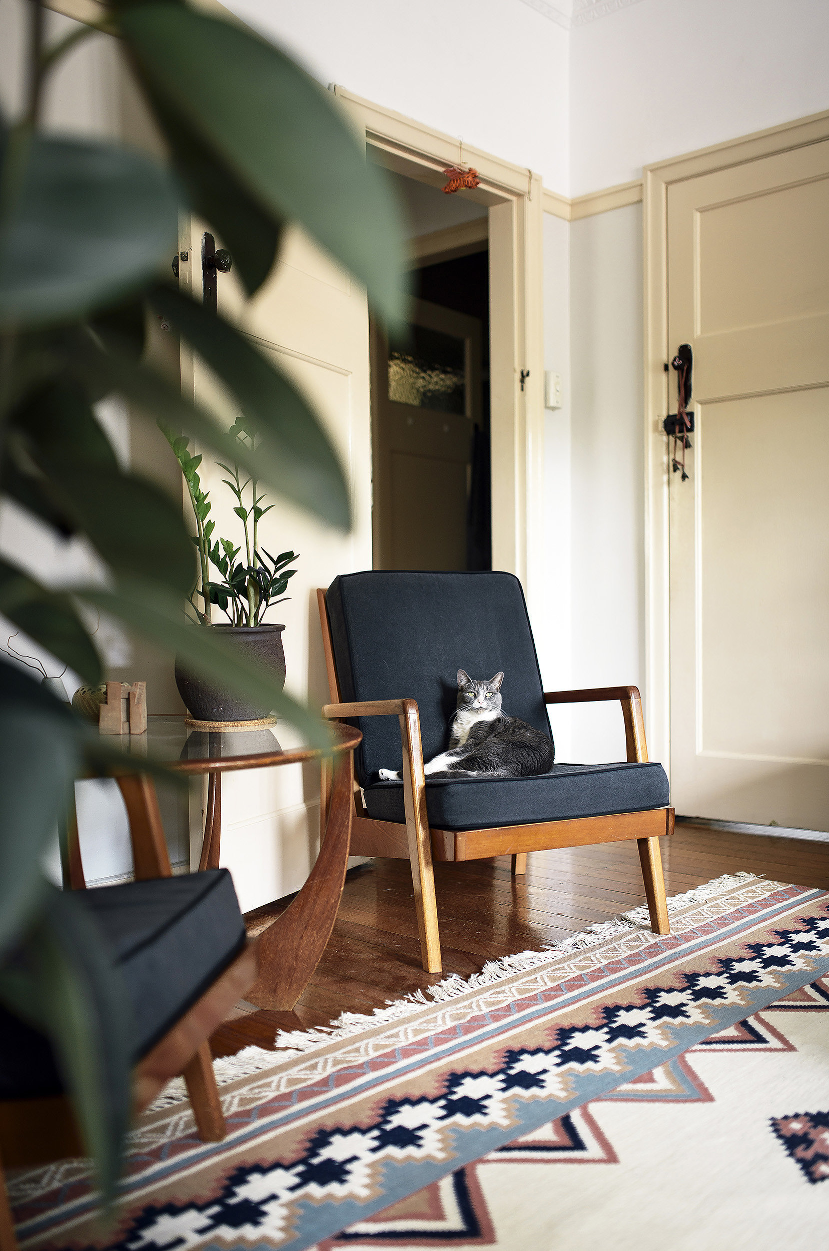 Even the cat feels at home on the lovely danish style for Room design reddit