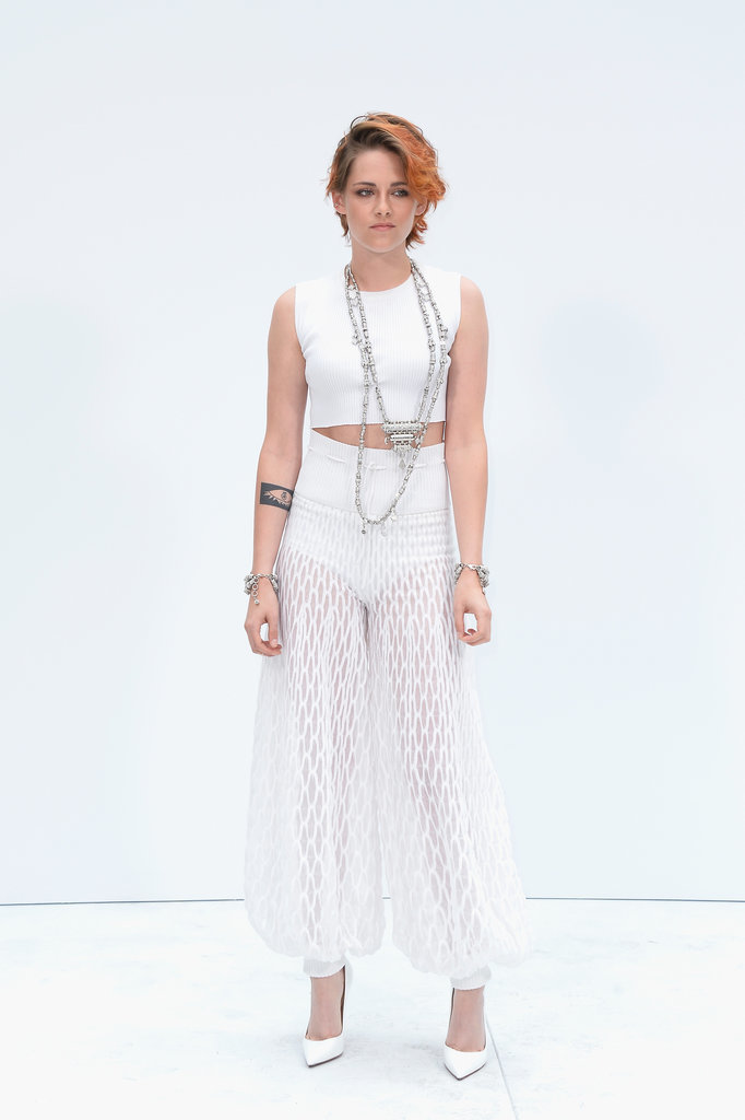 Kristen rocked the sheer pants trend for the Chanel Couture show in Paris in 2014.