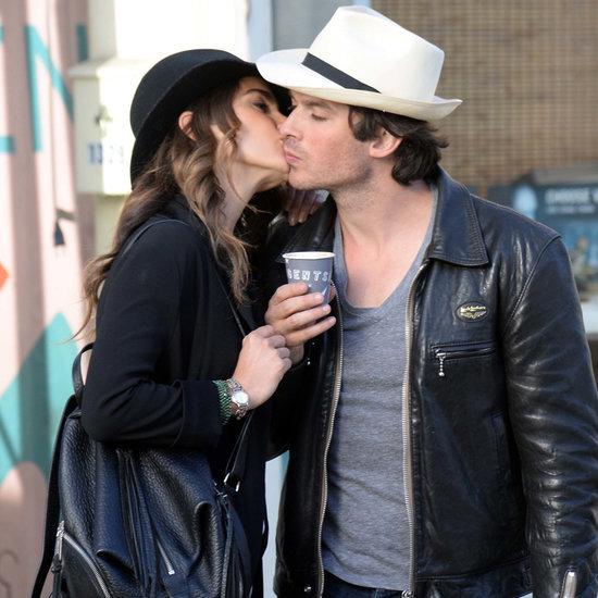 Nikki Reed and Ian Somerhalder's PDA on Coffee Date
