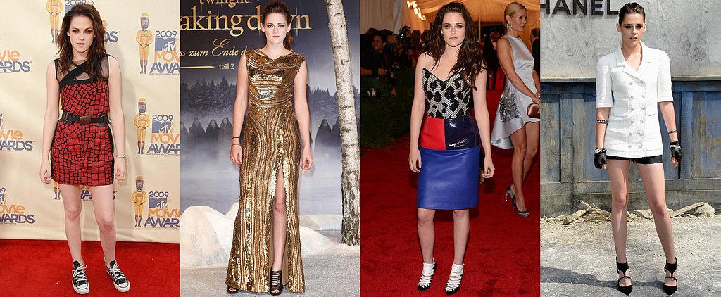Kristen Stewart's Red Carpet Evolution Proves She's a Total Fashion Girl