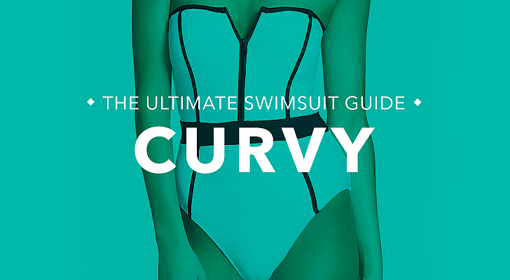 Curvy: You're curvy throughout with a full bust, hips, thighs, and butt like Christina Hendricks, Scarlett Johansson, and Kim Kardashian. What to look for: For curvy frames, the key is to highlight your curves while providing enough support and coverage. If you're not keen on exaggerating your curves, then steer clear of monokinis or string bikinis with thicker ties, which can accentuate your widest areas. Tips and tricks from Sabra Krock and Leslie Koren, fit and style experts for Everything but Water:  Asymmetrical suits draw the eye toward the neckline, highlighting the beautiful line from a woman's neck to her collarbone. Colorblocking can help highlight your shape, as do retro suits (think high waists and boxy halter tops).