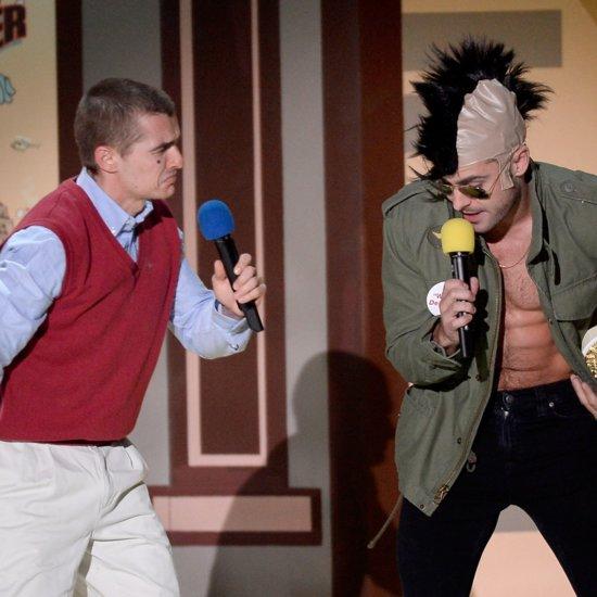 Zac Efron and Dave Franco as Robert De Niro MTV Movie Awards