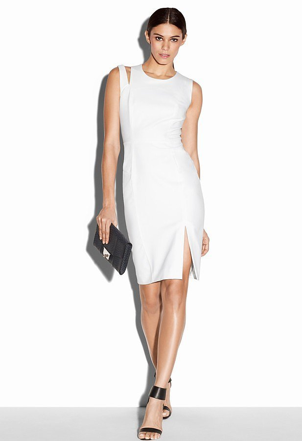 Milly Asymmetrical Sheath ($425)