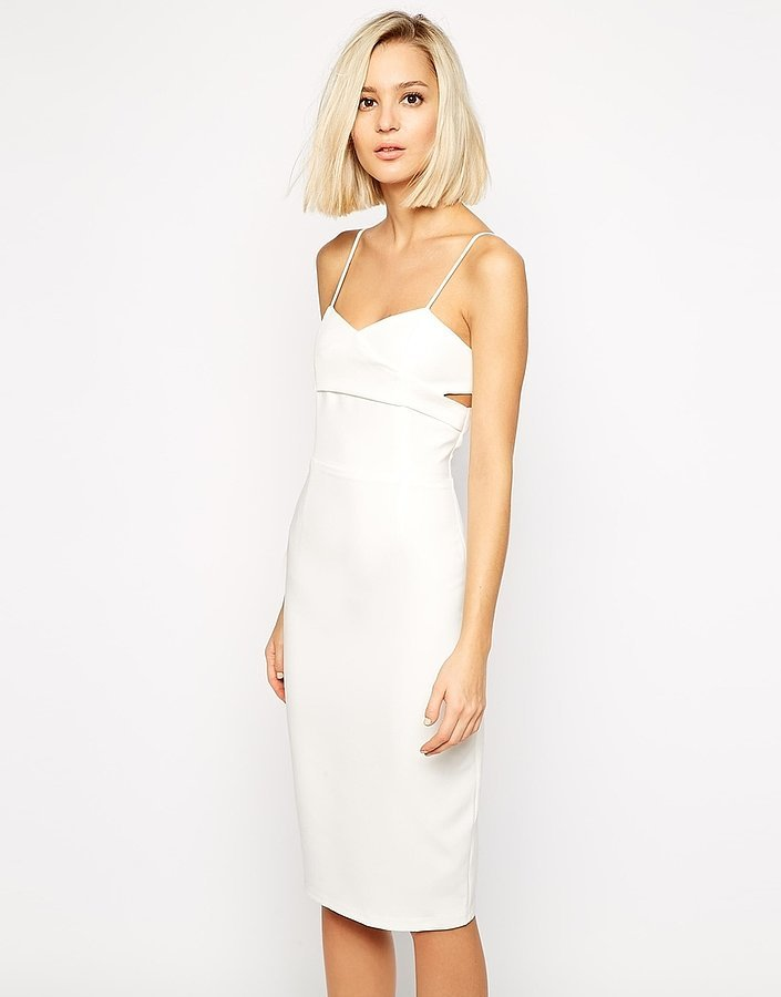 Lavish Alice Crossover Bodycon Midi Dress ($87)