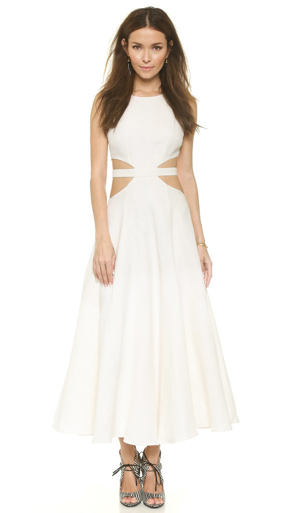 Mara Hoffman Linen Cutout Maxi Dress ($425)