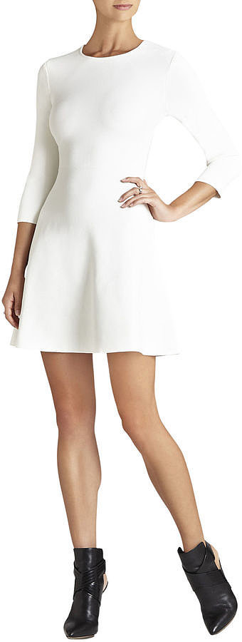 BCBG Danella Long-Sleeve Fit-and-Flare Dress ($338)