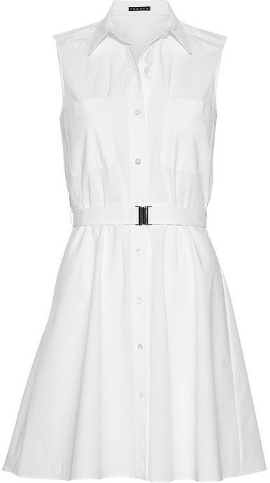 Theory Davah Cotton-Poplin Mini Shirt Dress ($295)