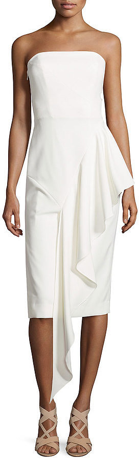Milly Strapless Cascading Ruffle Dress ($495)