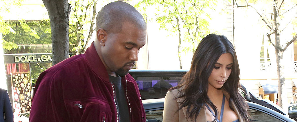 Kim and Kanye Pop Up in Paris on a Skin-Baring Shopping Trip