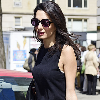 Amal Clooney Wearing Giambattista Valli Flared Pants