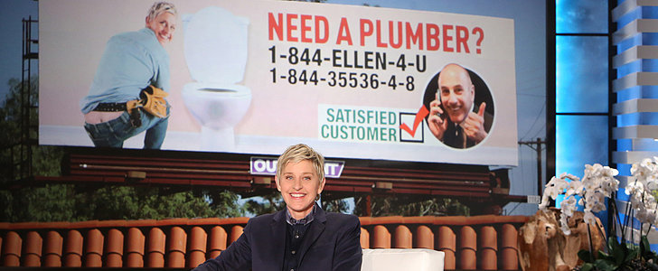 Matt Lauer Set Up Billboards and Phone Lines to Advertise Ellen as a Plumber