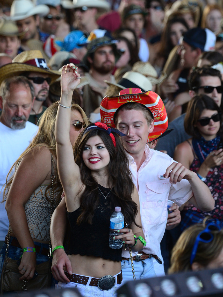 A couple enjoyed the music of Stagecoach last year.