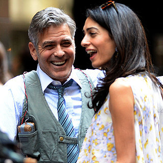 Amal Alamuddin Visits George Clooney on