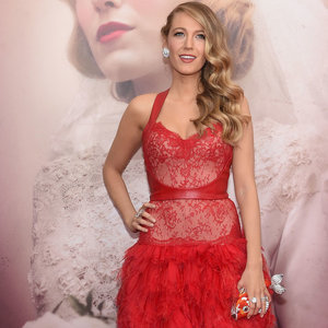Pictures Blake Lively in Red Dress Age of Adaline Premiere