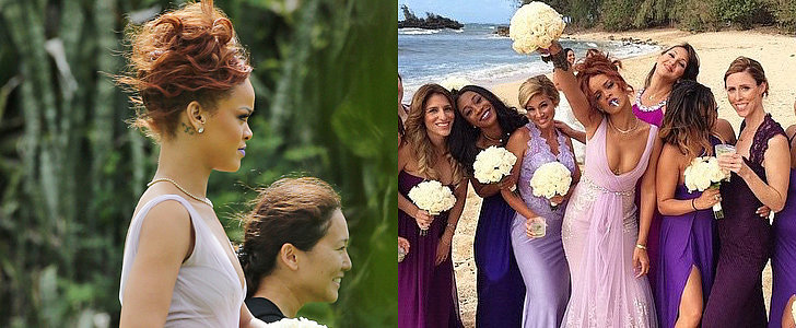 Rihanna Makes the Most Gorgeous Beach Bridesmaid