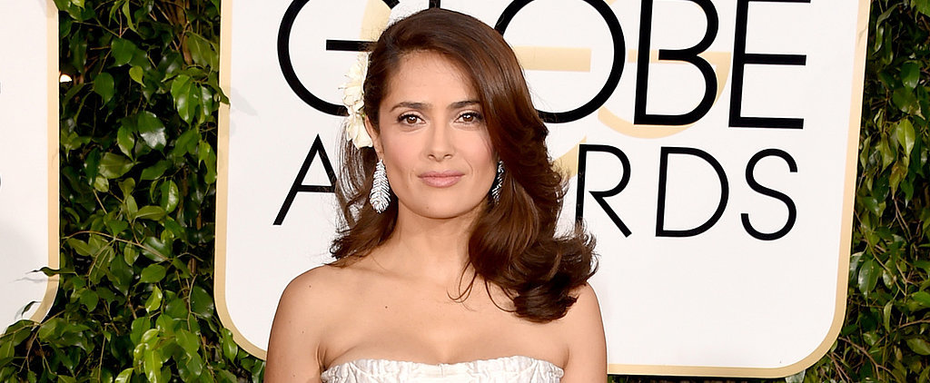 Salma Hayek Puts On a Brave Face While Eating a Cricket