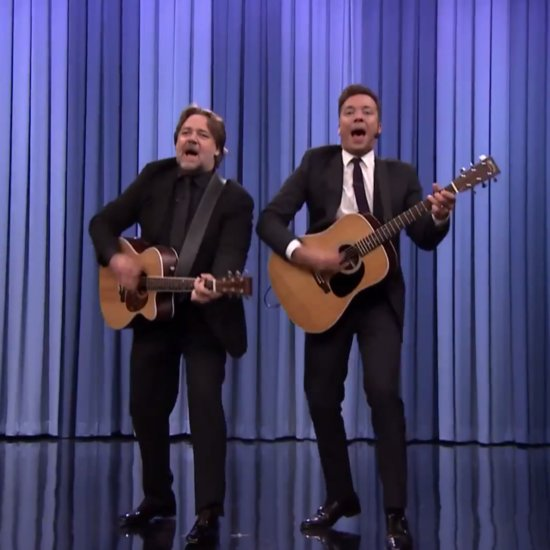 Russell Crowe and Jimmy Fallon Sing Earth Day Song