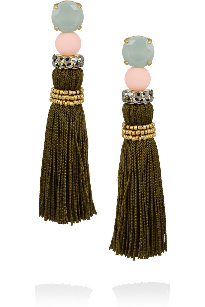 This eclectic pair of earrings would please any mom with an eye for cool accessories.  J.Crew Gold-Tone Tassel Earrings ($45)