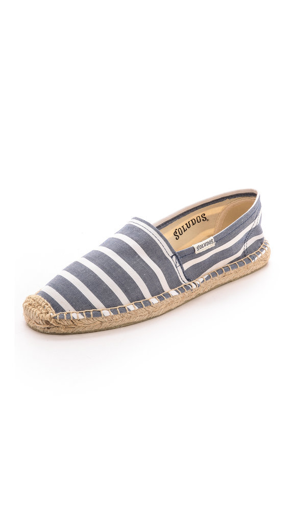 These striped flats would liven up your classically inclined mom's wardrobe.  Soludos Classic Striped Espadrilles ($43)