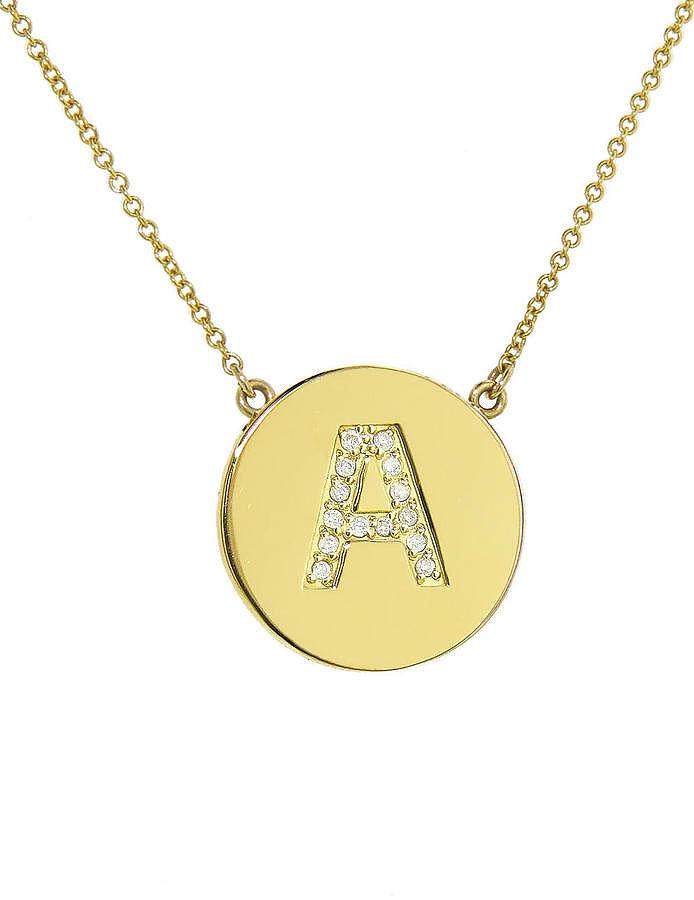 Jennifer Meyer Diamond Letter Pendant Necklace