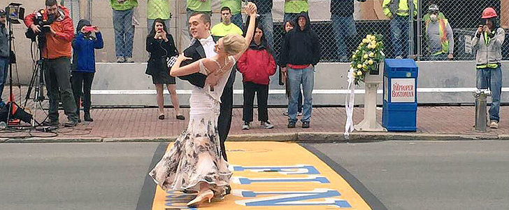 Watch a Boston Marathon Bombing Survivor Dance Across the Finish Line