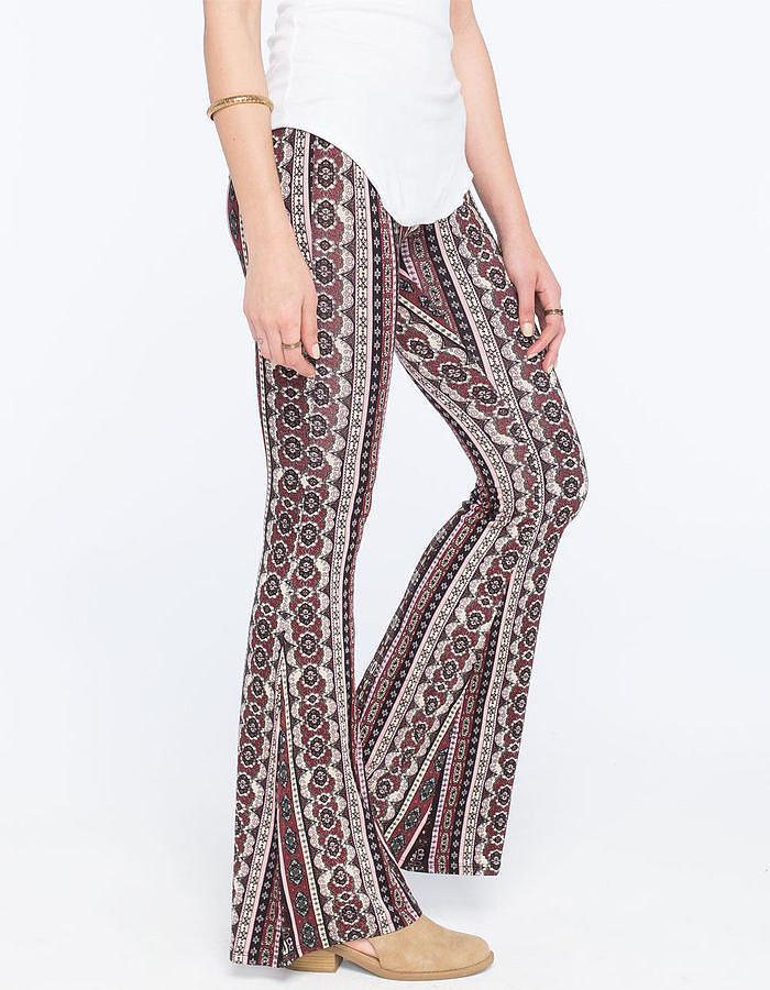 Full Tilt Floral Ethnic Print Flare Pants ($27)