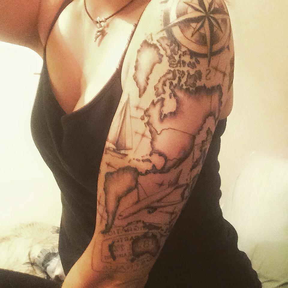 Map Tattoos: Travel Inspired Tattoos From Instagram