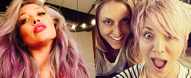 Kaley Cuoco Is the Latest Celebrity to Rock Rainbow Hair