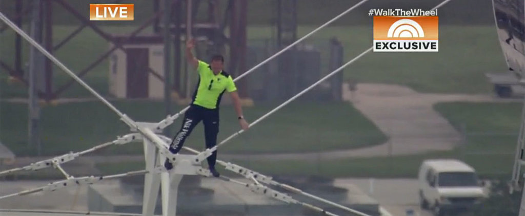 You Can't Help but Hold Your Breath While Watching This Man Walk Across a 400-Foot-Tall Wheel