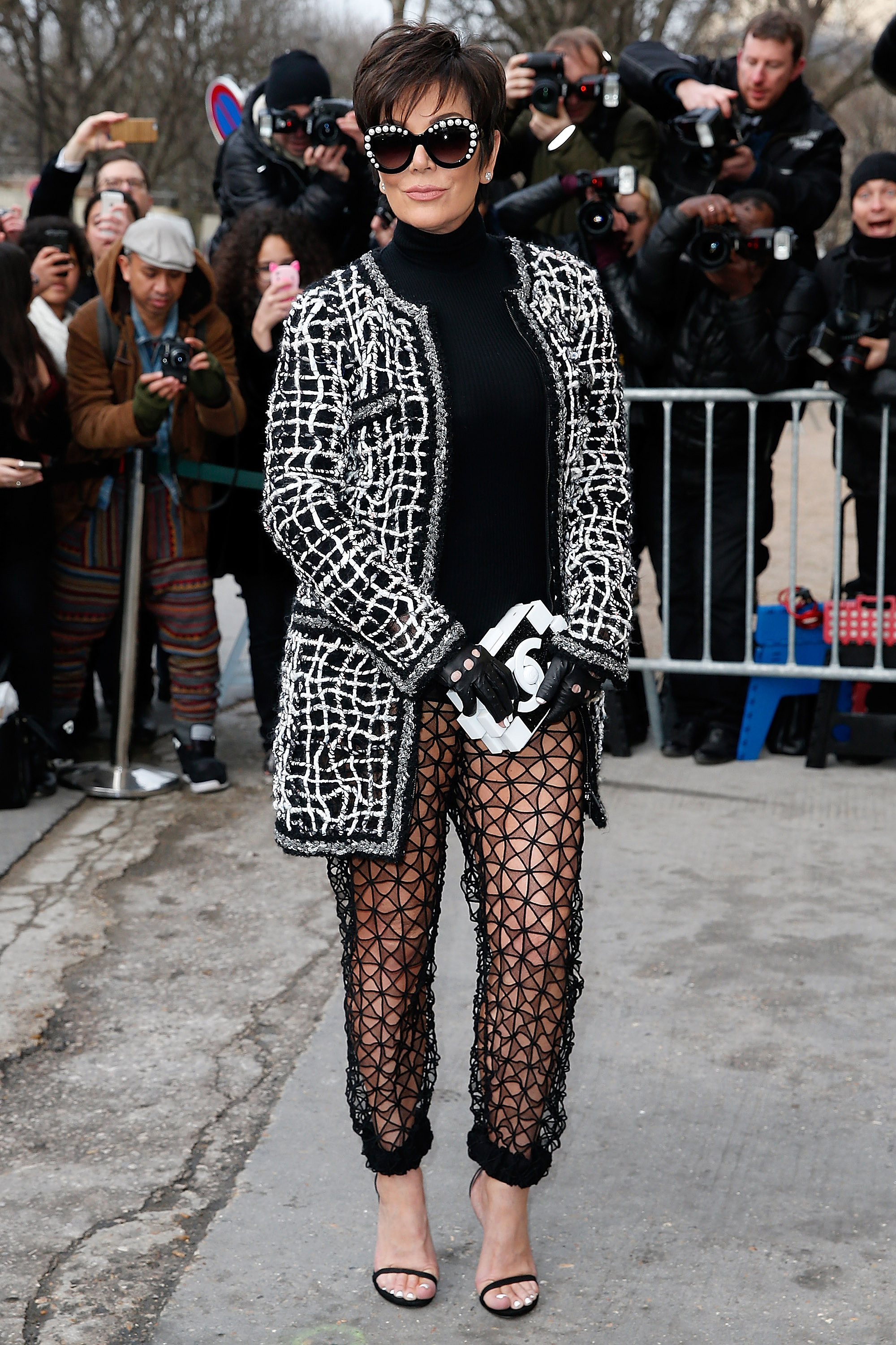 Kris took a liking to the sheer pants trend at the chanel for Lean cuisine vs jenny craig food