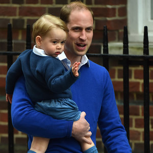 Pictures Prince George Visiting Kate Middleton at Hospital
